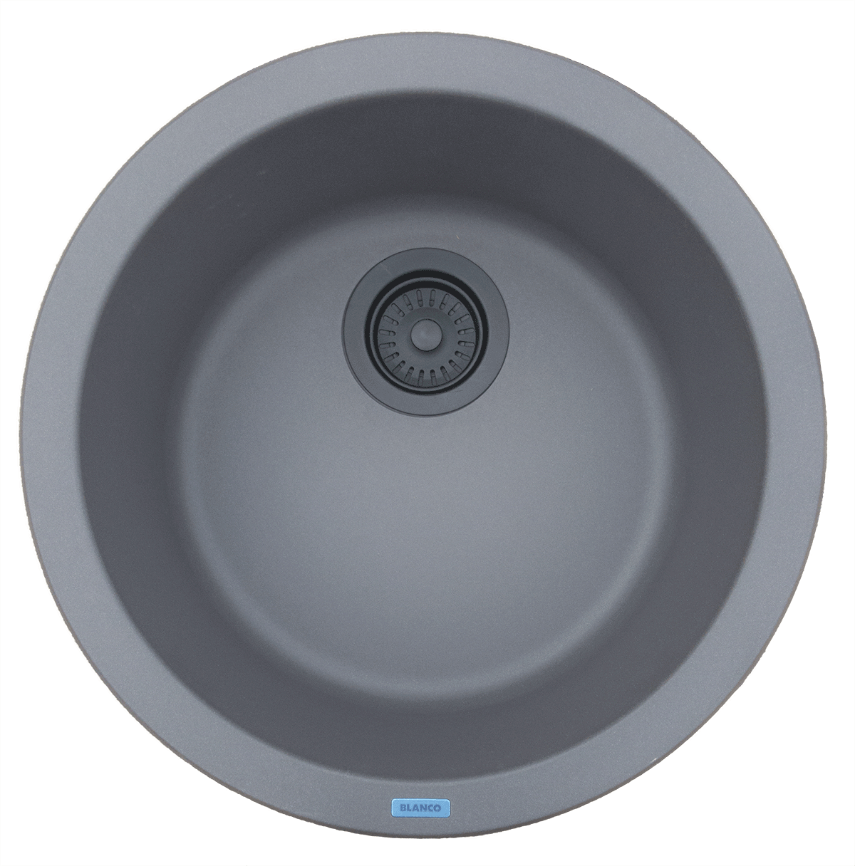 Cinder Sink with Black Drain